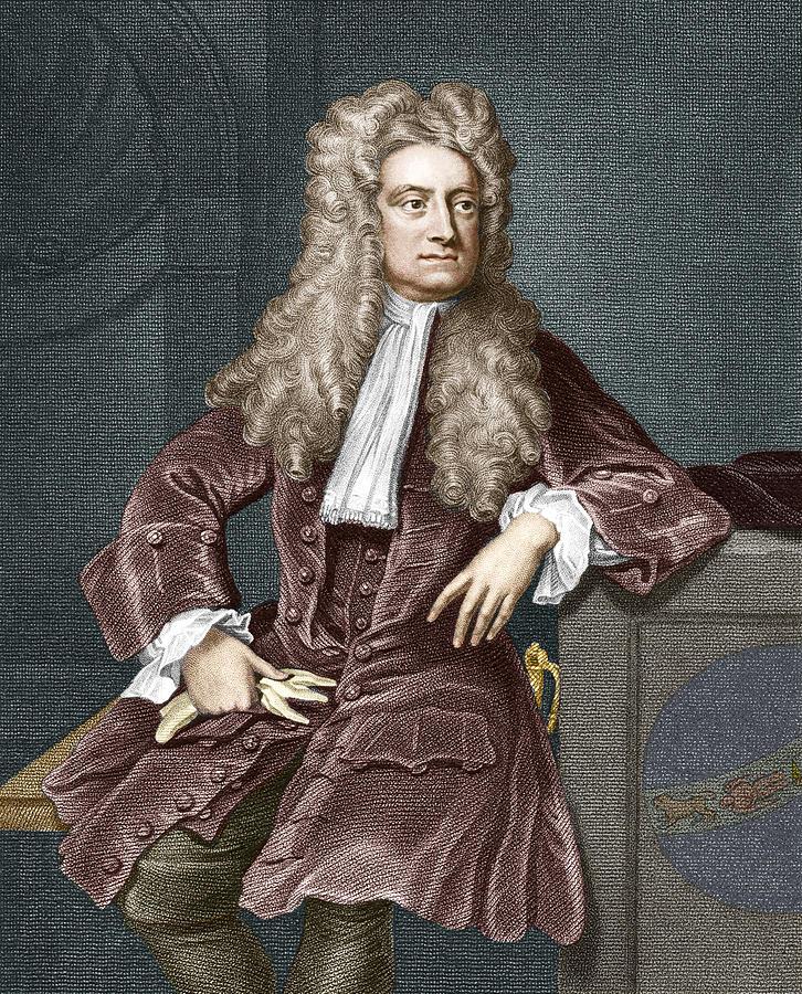 Isaac Newton Photograph - Sir Isaac Newton, British Physicist by Sheila Terry