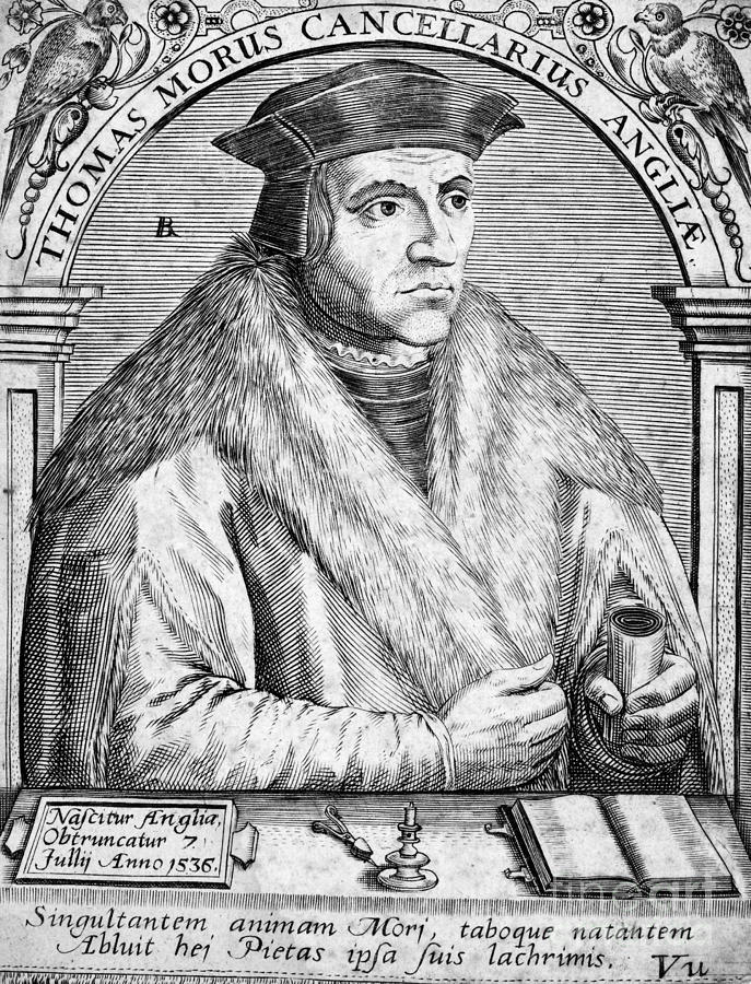 16th Century Photograph - Sir Thomas More (1478-1535) by Granger