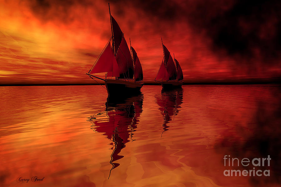 Sailing Painting - Siren Song by Corey Ford