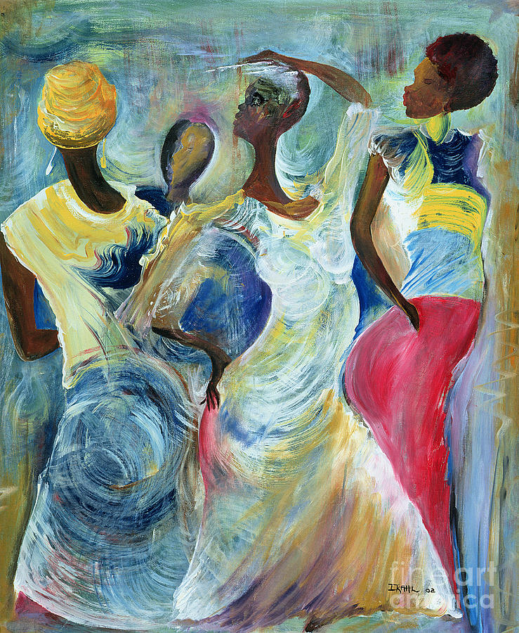 African Painting - Sister Act by Ikahl Beckford