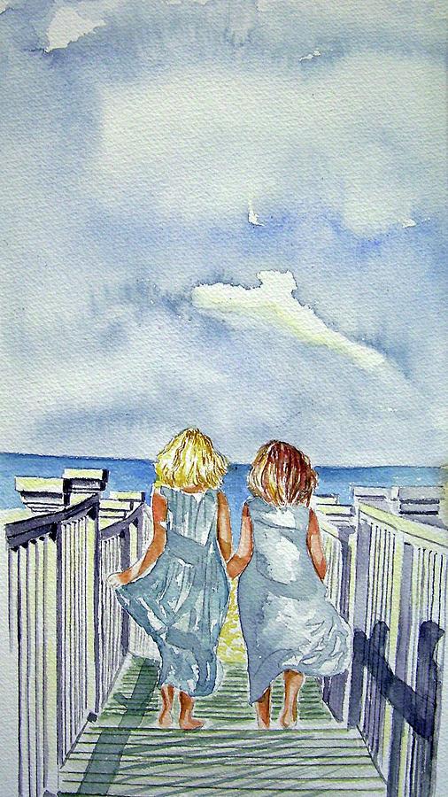Sisters Painting - Sisters by Paul SANDILANDS
