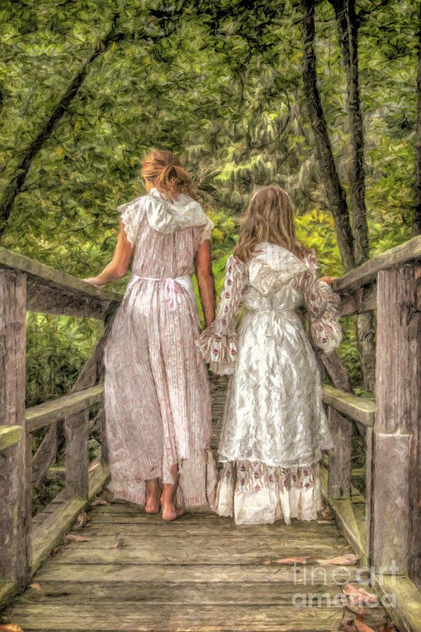 Summer Digital Art - Sisters by Randy Steele