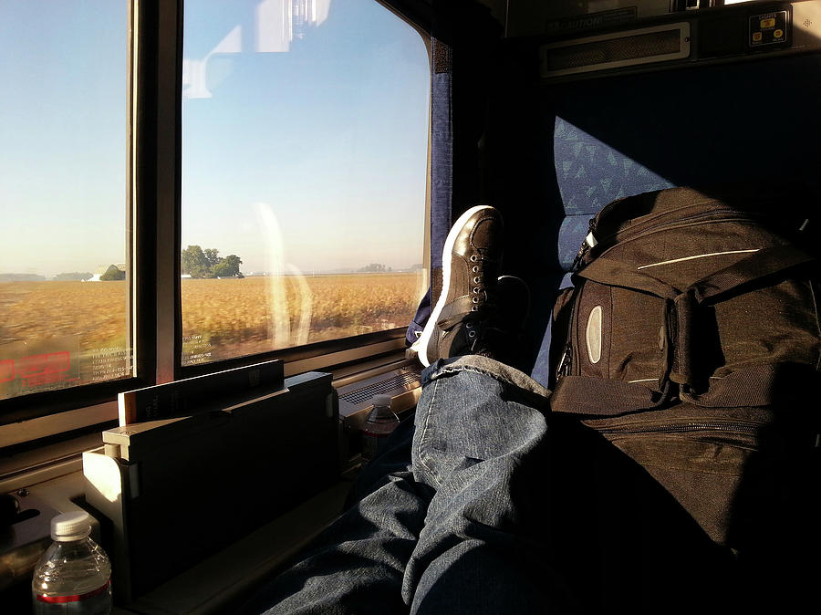 Sit Back And Relax - Train Travel Photograph