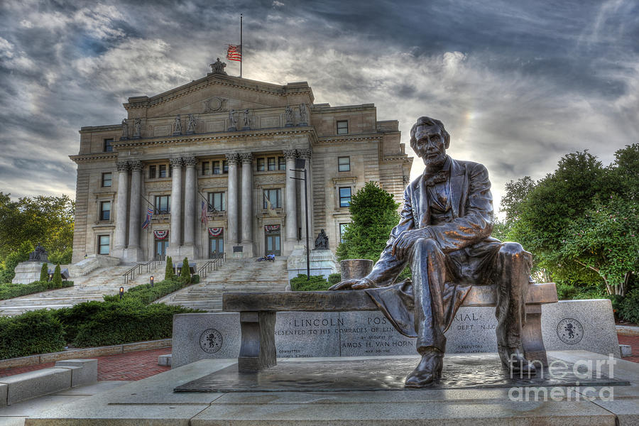 Sit With Me - Seated Lincoln Memorial By Gutzon Borglum Photograph