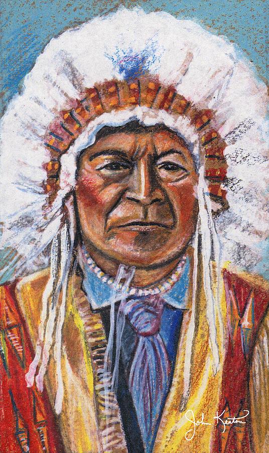 American Indian Painting - Sitting Bull by John Keaton