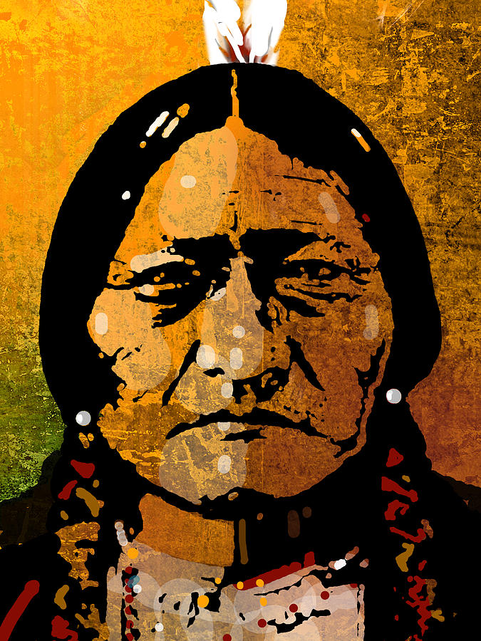 sitting bull painting by paul sachtleben. Black Bedroom Furniture Sets. Home Design Ideas