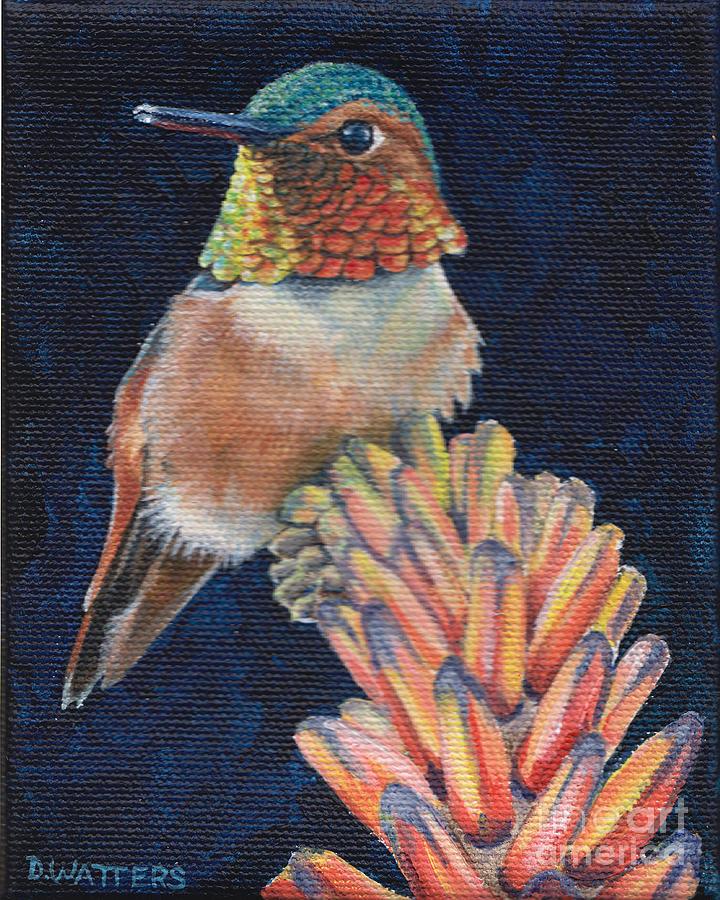 Hummingbird Painting - Sitting Pretty by Darlene Watters