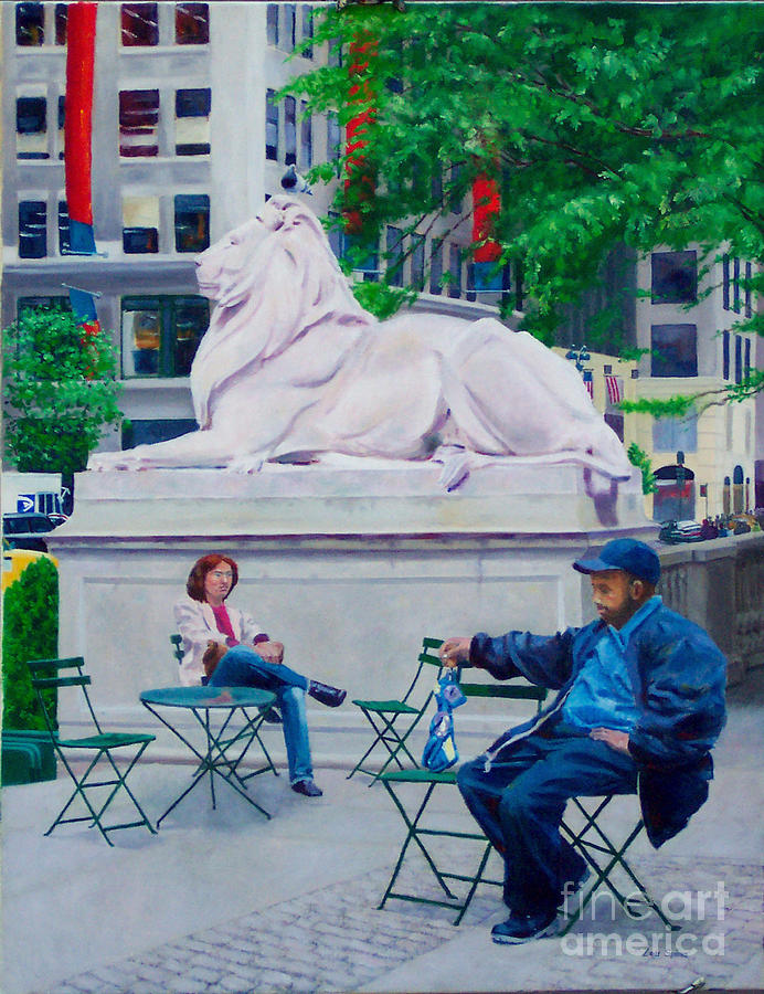 42nd Street Library Digital Art - Sitting With Patience by Lou Spina