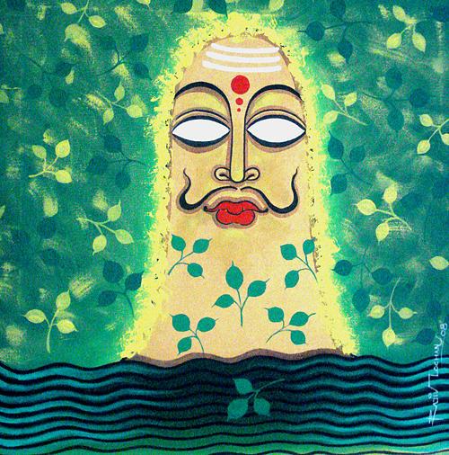 Oil Painting Painting - Siva Ganga 9 by Rajiv Lochan