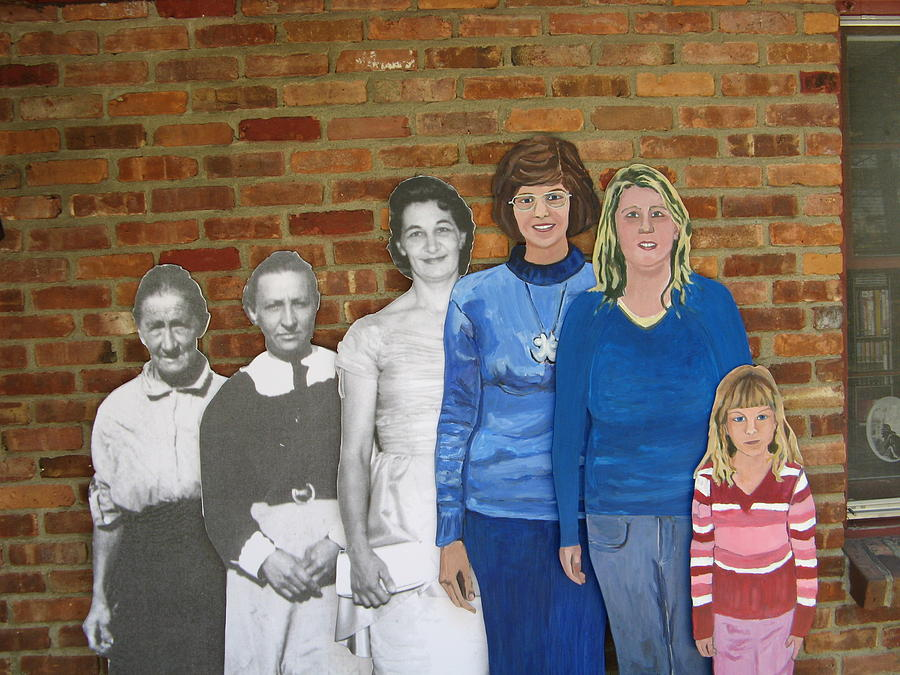 Life Size Figures Photograph - Six Generations Of Women by Betty Pieper