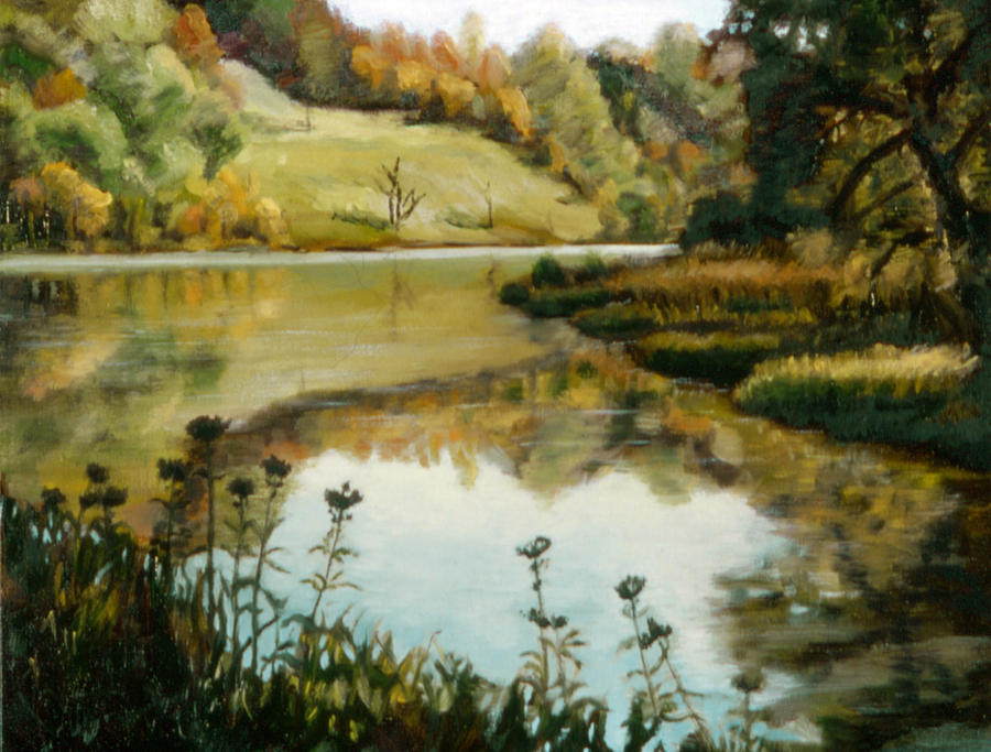 Six Mile Creek Painting - Six Mile Creek Ithaca by John Clum