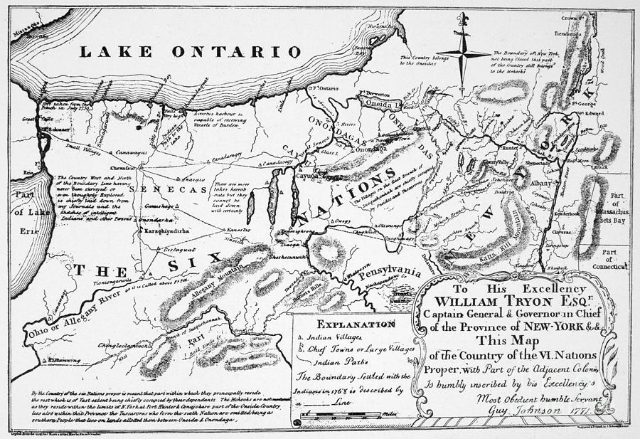 Six Nations Map 1771 Drawing