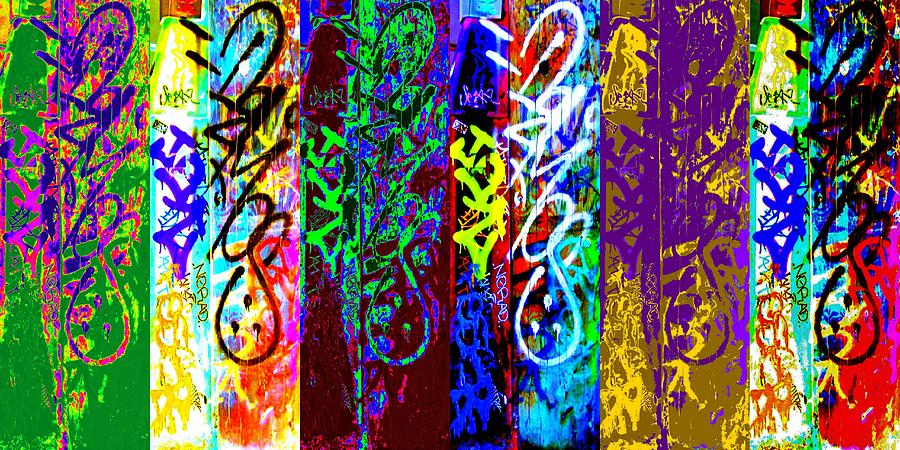 Street Art Digital Art - Six Seans by Randall Weidner