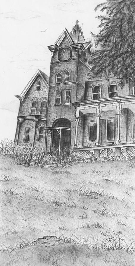 Building Drawing - Skene by April Higney