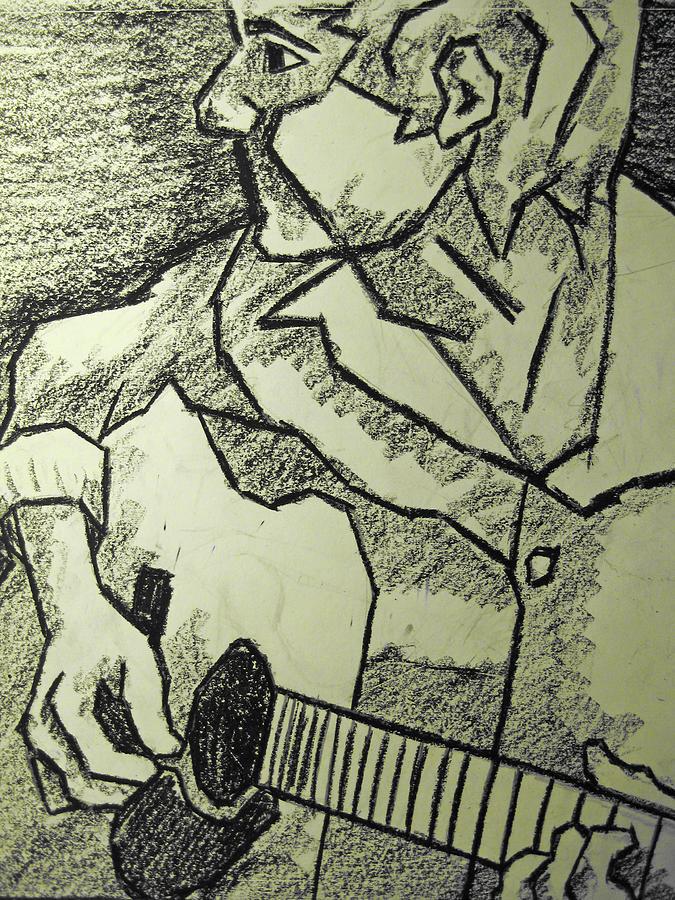 Sketch - Guitar Man Drawing
