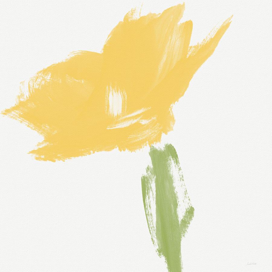 Sketchbook Yellow Rose- Art By Linda Woods Painting
