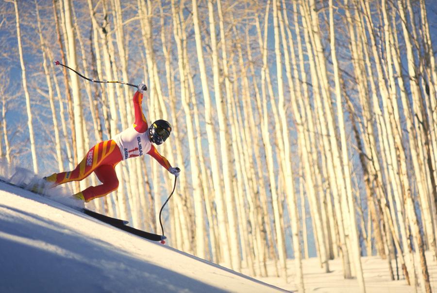 Skiing In Aspen, Colorado Photograph