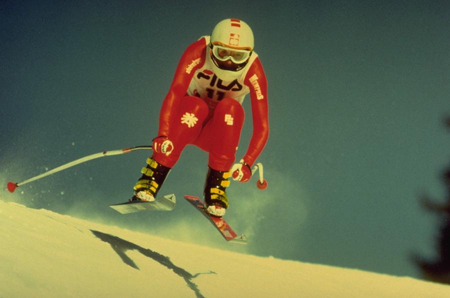 Skiing In Crans Montana Photograph