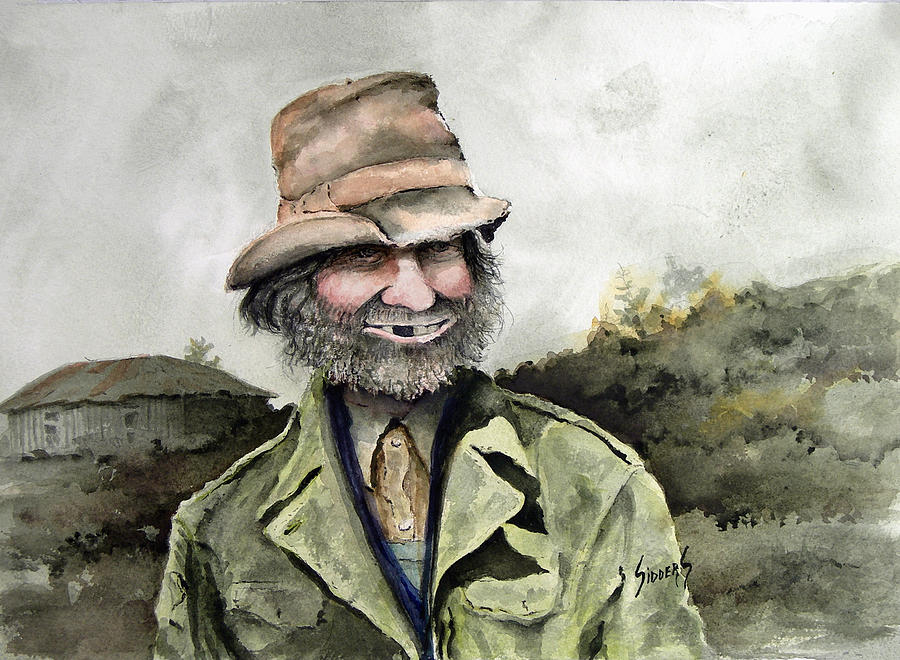 Portrait Painting - Skinny Benny by Sam Sidders