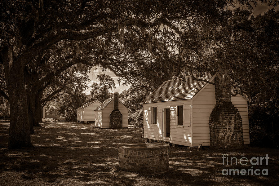 Slave Cabins On The Grounds Of Mcleod Plantation Photograph