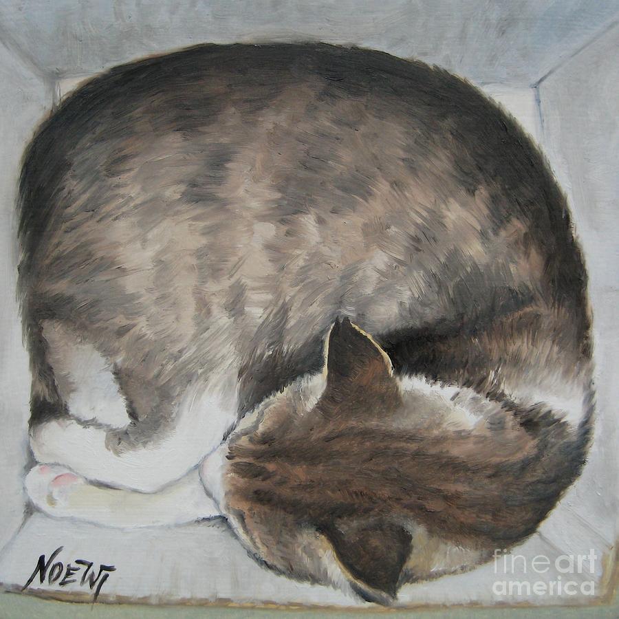 Sleeping Kitty Painting