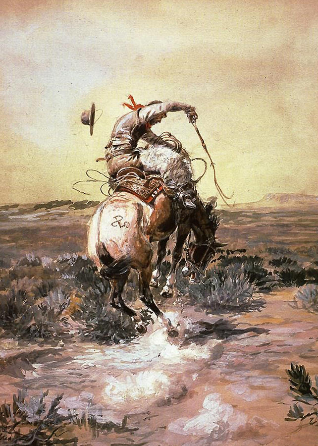 Charles Russell Digital Art - Slick Rider by Charles Russell