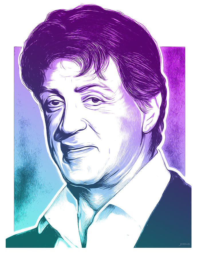 Sly Stallone Mixed Media