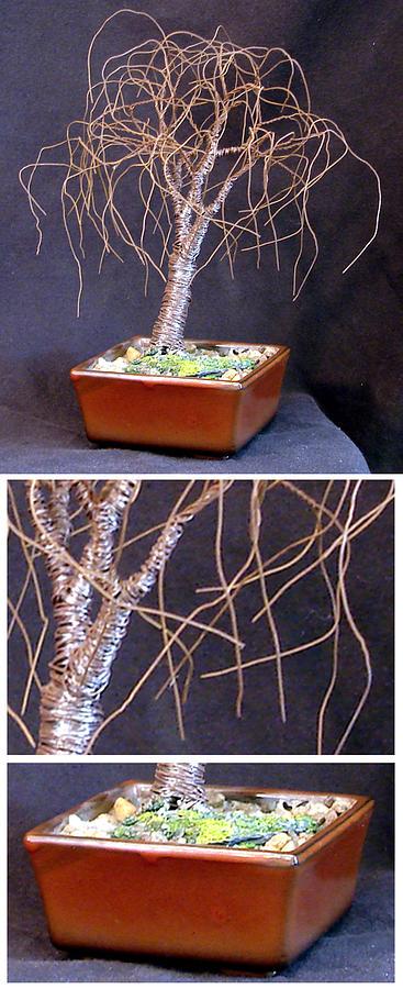 Sculpture Sculpture - Small Bonsai Elm by Sal Villano