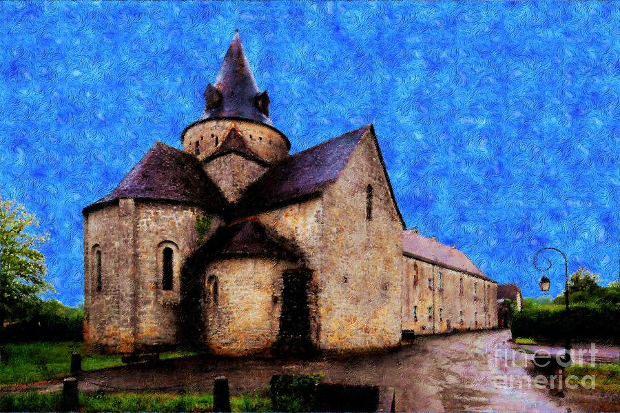 Vincent Van Gogh Photograph - Small Church 1 by Jean Bernard Roussilhe