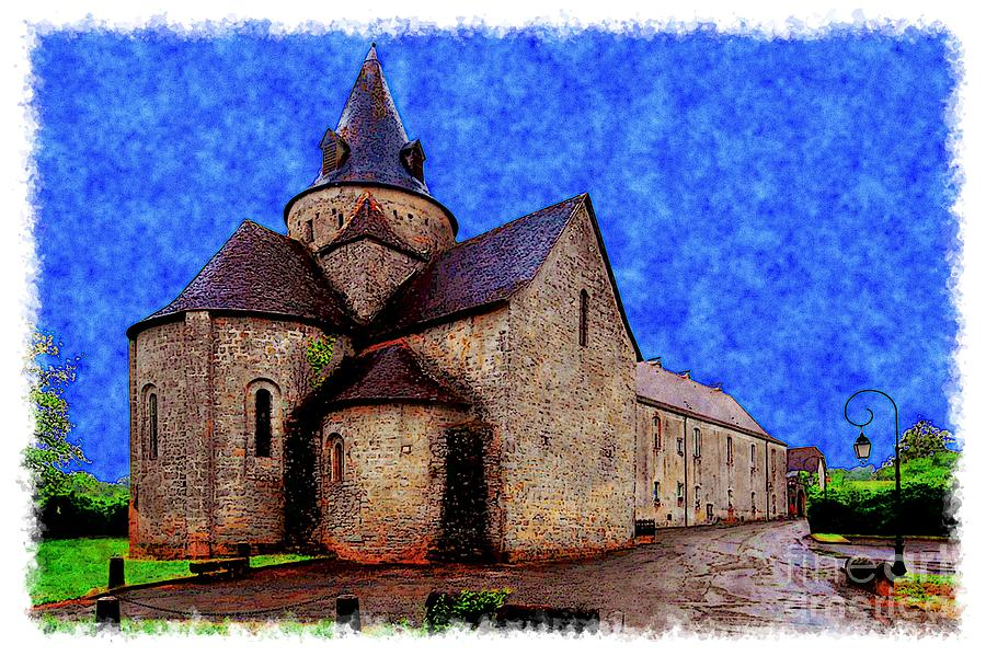 Watercolor Photograph - Small Church 2 by Jean Bernard Roussilhe