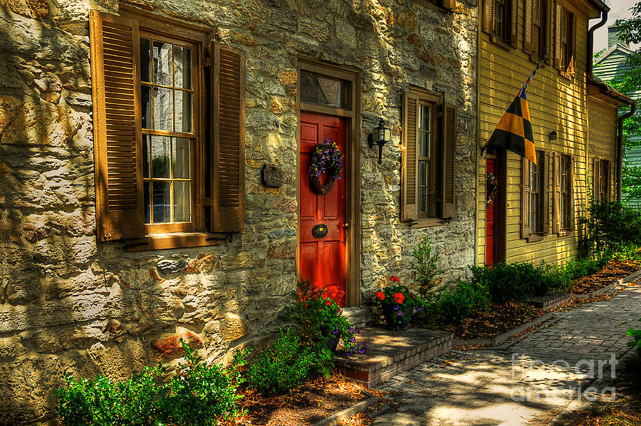 Small Town Photograph - Small Town Usa by Lois Bryan