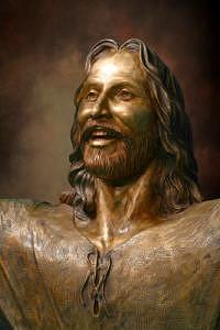 Smiling Christ Sculpture