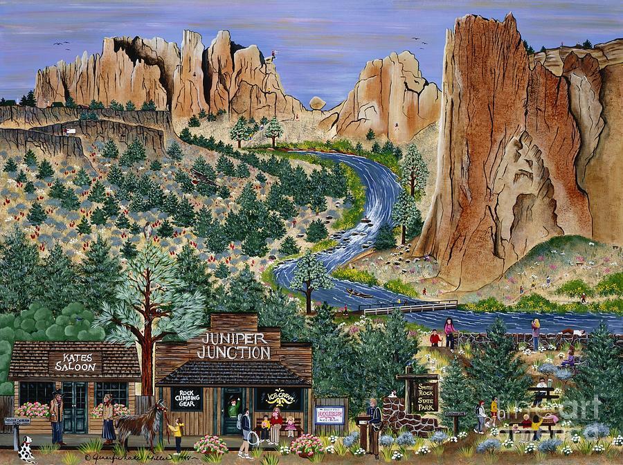 Smith Rock Painting - Smith Rock State Park by Jennifer Lake