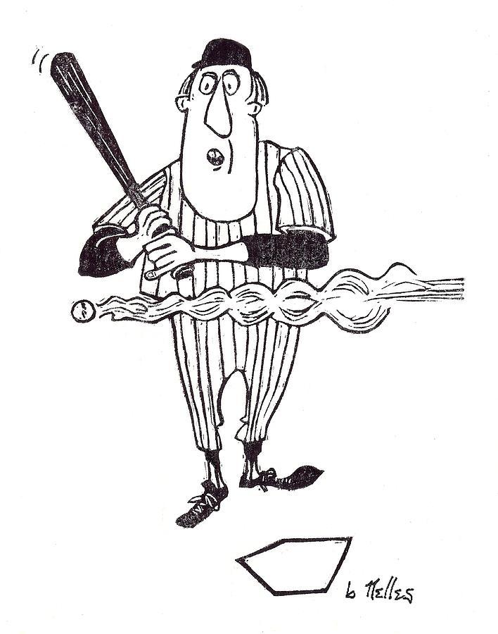 Baseball Painting - Smoke by Barry Nelles Art