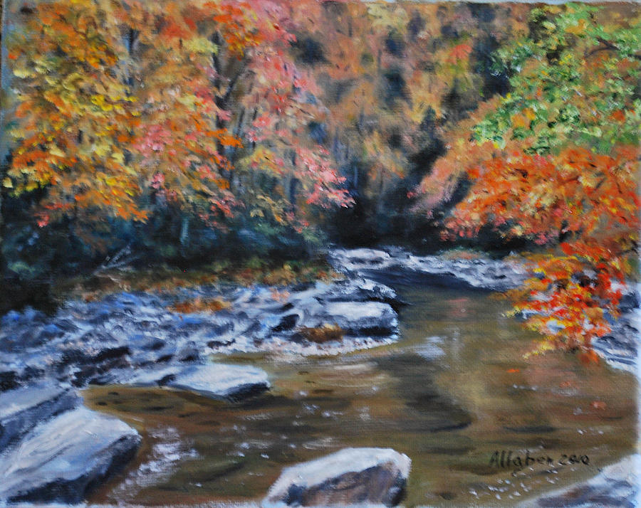 North Carolina Art Painting - Smokey Mountains Autumn by Stanton D Allaben