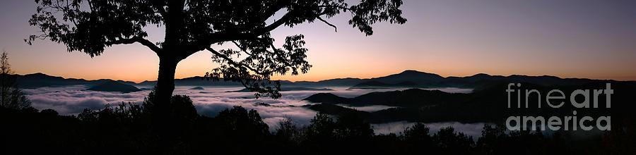 Smoky Mountain Sunrise Panorama Photograph