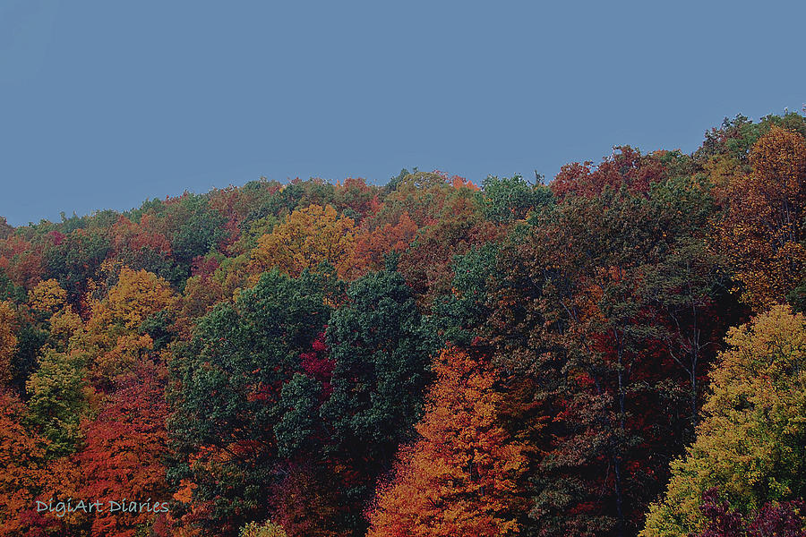 Smoky Mountains Digital Art - Smoky Mountains In Autumn by DigiArt Diaries by Vicky B Fuller
