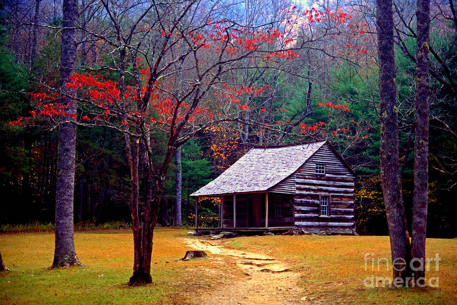 Log Cabin Photograph - Smoky Mtn. Cabin by Paul W Faust -  Impressions of Light