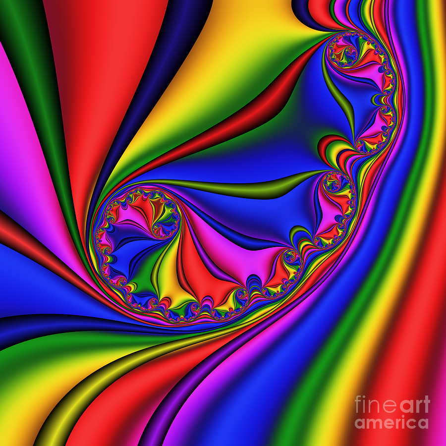 Abstract Digital Art - Smoothly Curly 199 by Rolf Bertram