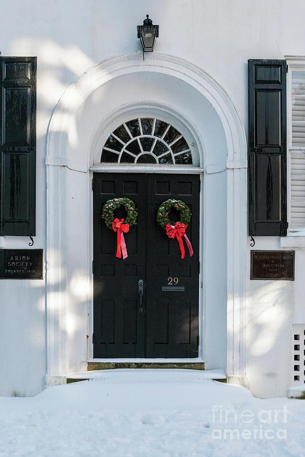 Snow Covered Charleston Door Photograph