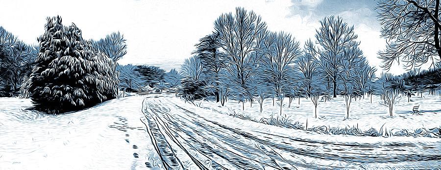 Snow Day Digital Art