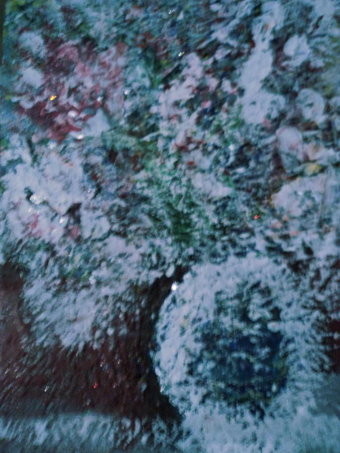 Snow Painting - Snow Globe Gone Wild II by Anne-Elizabeth Whiteway