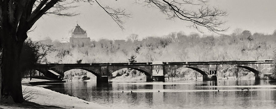 Philadelphia Photograph - Snow On The River by Bill Cannon