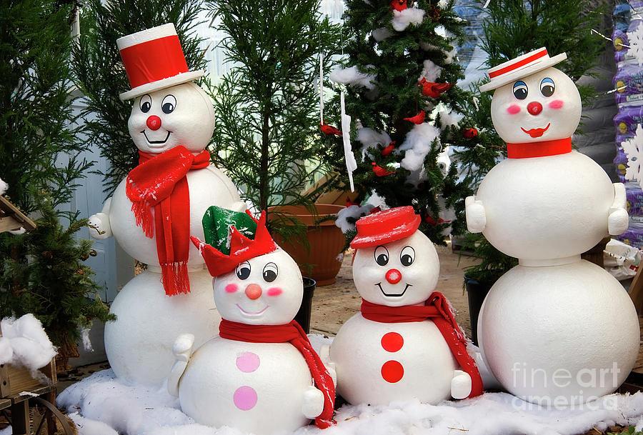 Snowman Family Photograph
