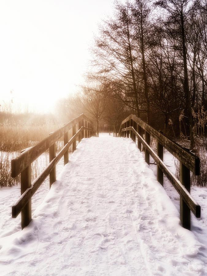 Bridge Photograph - Snowy Bridge by Wim Lanclus