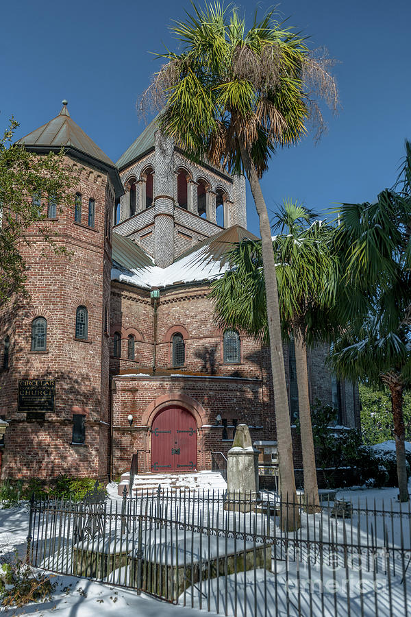 Snowy Circular Church Photograph
