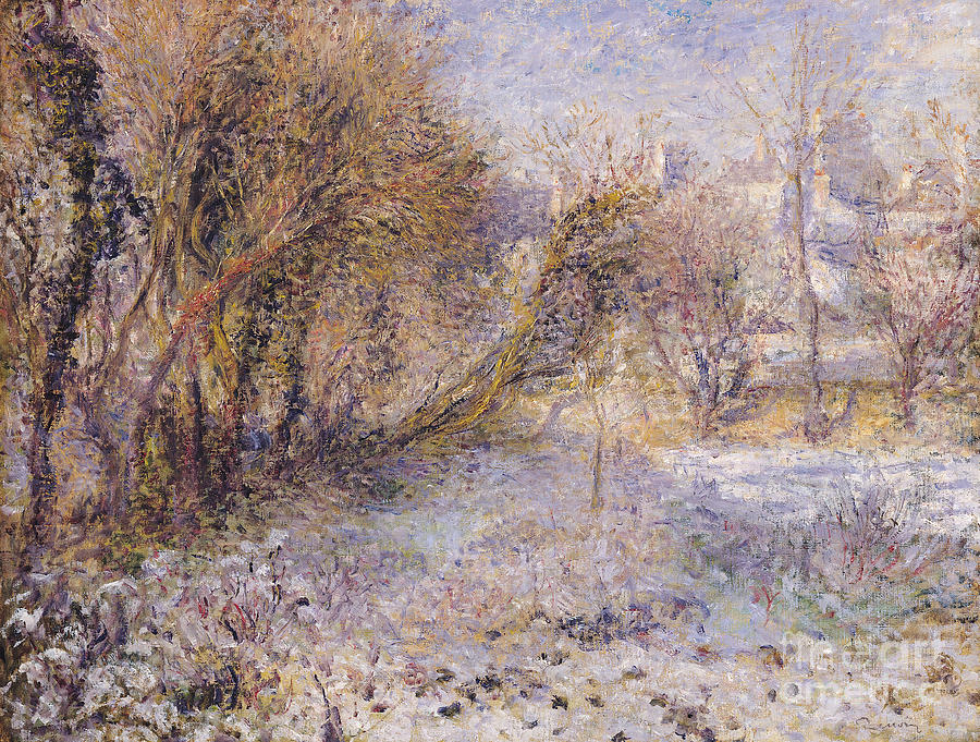 Snowy Painting - Snowy Landscape by Pierre Auguste Renoir