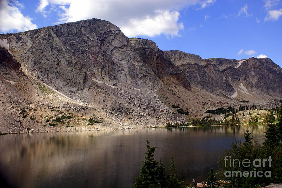 Lake Photograph - Snowy Mountian Loop 8 by Marty Koch