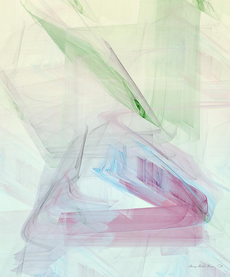 Abstract Digital Art - Softly Modest by Sherry Holder Hunt