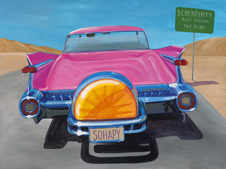 59 Cadillac Painting - Sohapy by Lucretia Torva